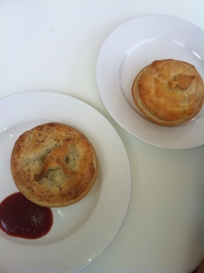Kangaroo and Seafood Pies