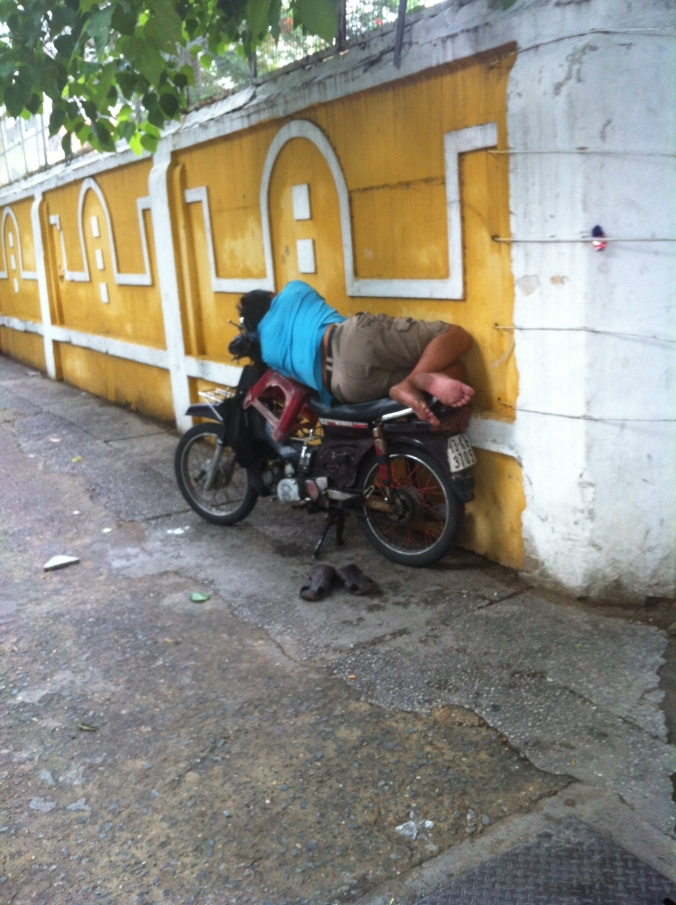 Vietnamese people must have the lowest stress levels - seemingly able to sleep anywhere!