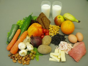 "An example of ""High protein, low GI"" foods."